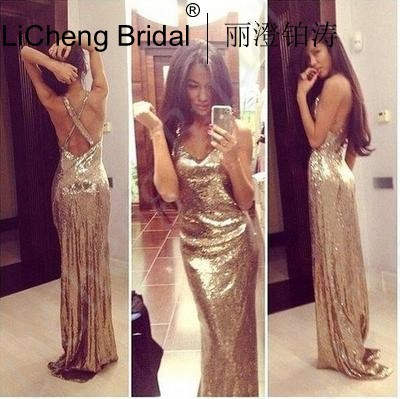 Online Get Cheap Long Gold Prom Dresses -Aliexpress.com  Alibaba ...