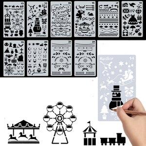 Image 3 - Handbuch Handbuch Schalung Set Hohle Spitze Werkzeug Schreibwaren Multifunktionale Straightruled Tablet Grundschüler Ziehen Diy