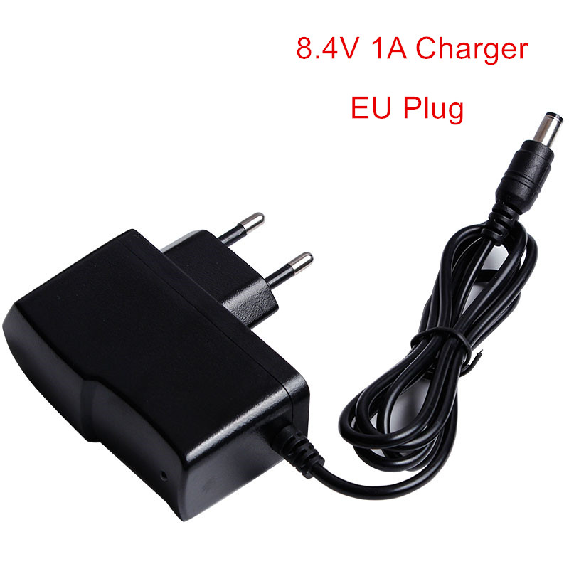 цена 8.4V Charger Lithium Battery Charger Adapter DC 5.5*2.1mm Power Supply Adapter Charger EU US UK Plug 8.4V charger Special Price