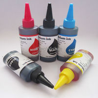 5 Bottles X 100ML PGI 570 CLI 571 Dye Ink For Canon MG5750 MG5751 MG5752 MG5753