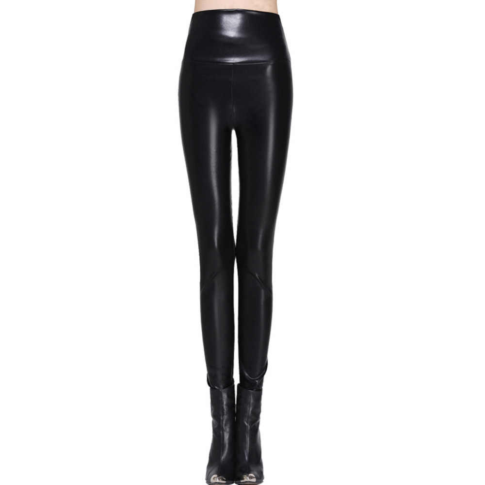095b4f7999cf16 women leggings faux leather high quality slim leggings plus size High  elasticity sexy pants leggins s