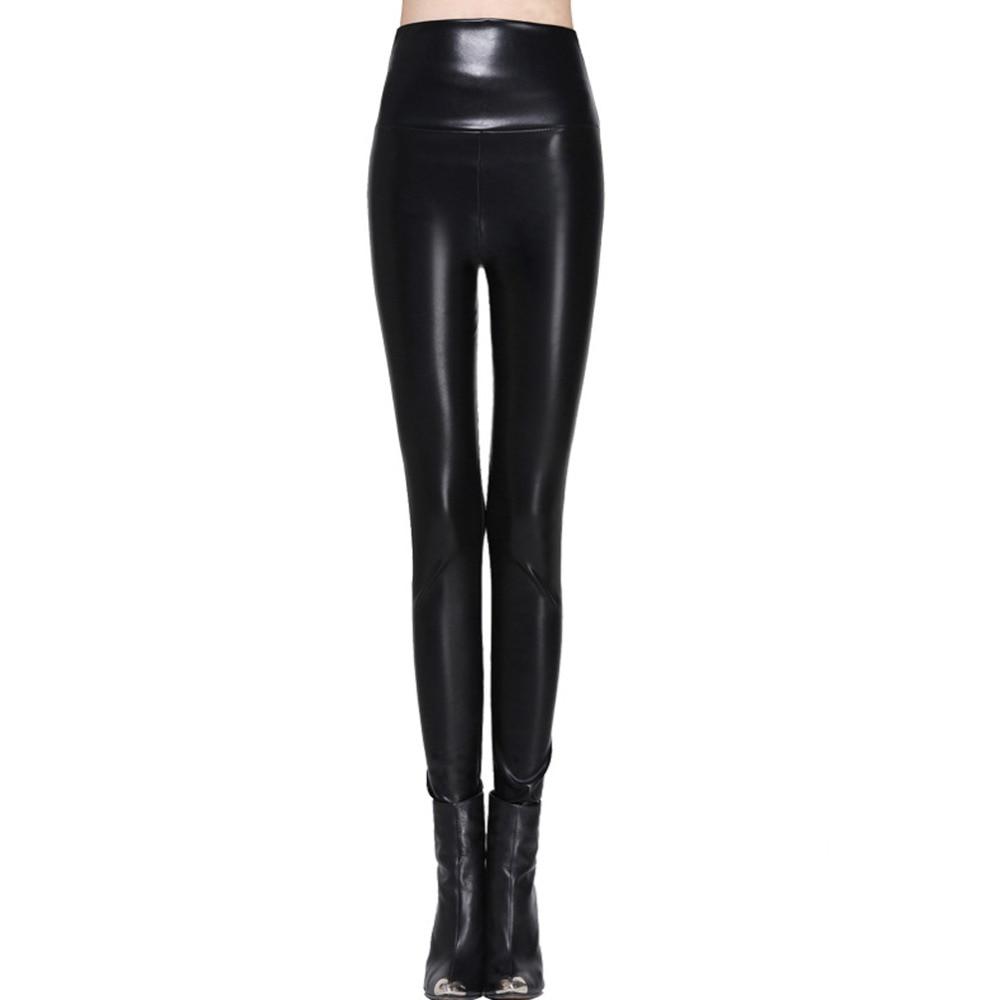Femmes leggings faux cuir haute qualité slim leggings grande taille haute élasticité sexy pantalons leggins s-xl cuir bottes leggings