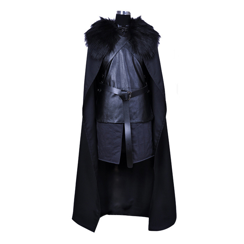 Game of Thrones Jon Snow Cosplay Costumes Knight Role Play Full Set Costume Halloween Carnival Cloak Vest For Men Women