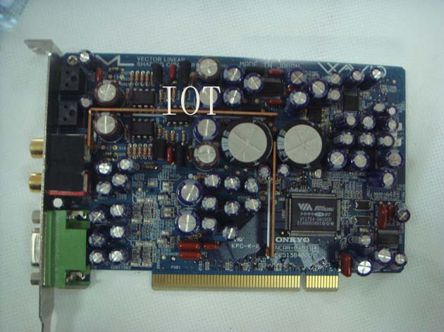 (USED) Original for Onkyo ONKYO WAVIO SE-150 PCI HiFi Professional sound card цены