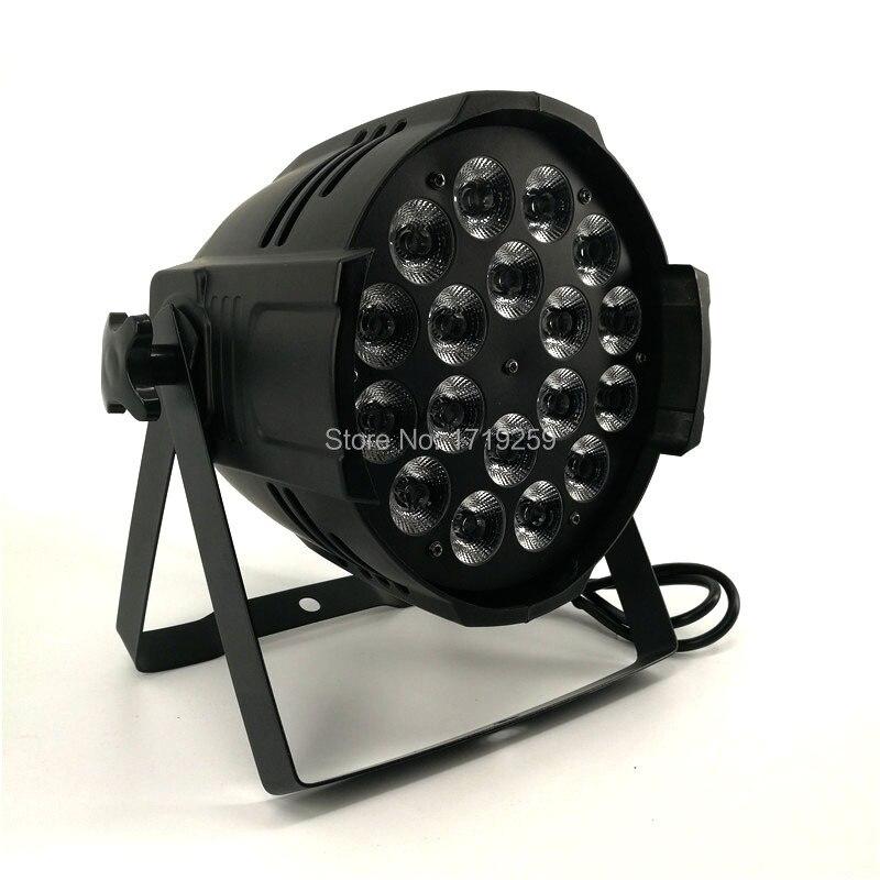 8 pcs/lot LED Par 18x18W RGBWA+UV 6in1 LED Par Can Par led spotlight dj projector wash lighting stage lighting 4pcs lot led par 18x15w rgbwa 5in1 quad led par can par64 led spotlight dj projector wash lighting stage light