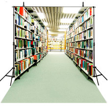 Hot Books Photography Backdrops Vinyl Backdrop For Photography Library Background For Photo Studio Children Foto Achtergrond(China)