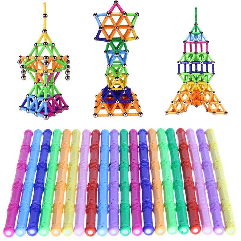 2017 Magnetic Building Blocks DIY Toys Educational Stacking Construction Gift 100Pcs MAY2_35