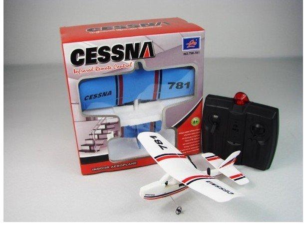 TW-781 Cessna Micro MINI Infrared Easy Control Indoor RC EPO Gilder Aeroplane