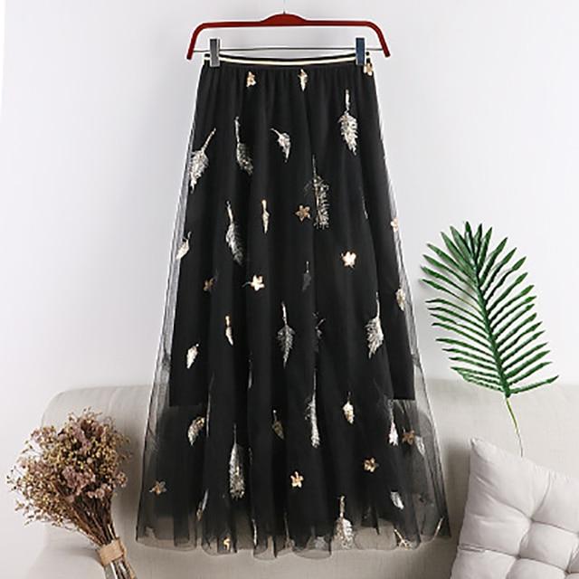 Фото шикарная фатиновая юбка fannic лето 2019 женские юбки средней