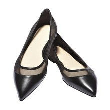цена на Women Shoes Slip-On Pointed Toe Flats 2019 New Hot Sale Spring Autumn Casual Fashion Genuine Leather Flats Women Elegant C046A