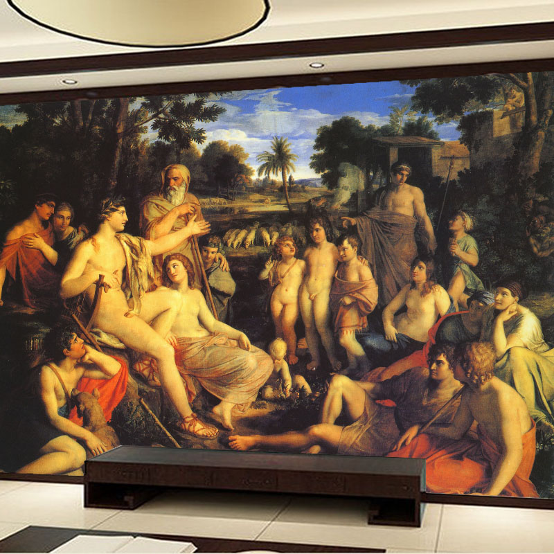 Compare prices on famous paintings wallpaper online for Classic mural painting