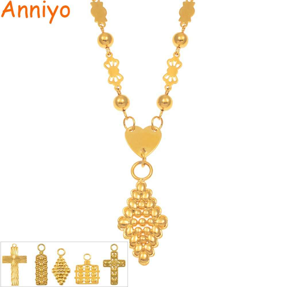 Anniyo SMALL Ball Bead Chains Necklaces Women Girls Marshall Guam Hawaii Pendants Jewelry Micronesia Islands Gifts #169806