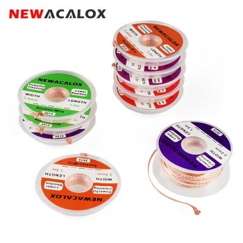 Купить со скидкой NEWACALOX Desoldering Wire 1.5/2.0/2.5/3.0/3.5mm Suction Tin Desoldering Wick Solder Braid Wire for
