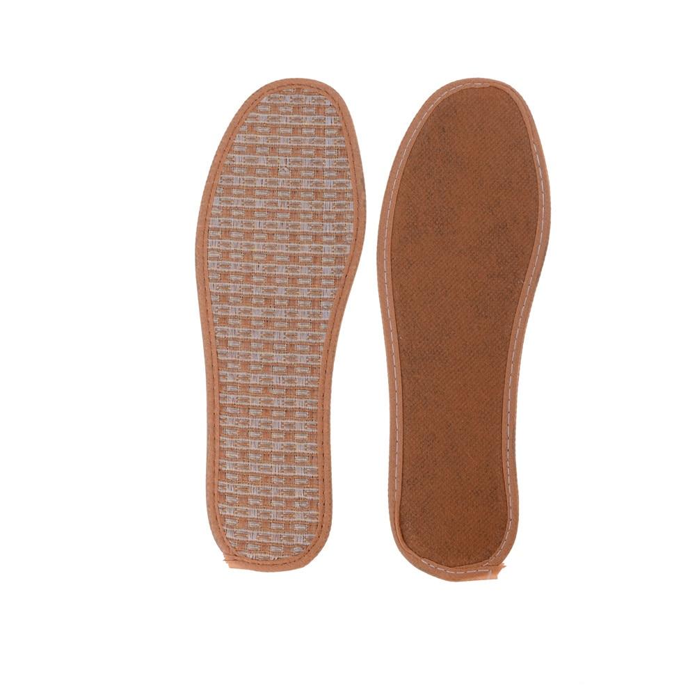 1 Paar Atmungsaktive Einlegesohlen Atmungsaktiv Hand-woven Bambus Holzkohle Leinen Schuhe Einlegesohle Sommer Unisex Einsätze Fuß Pads Pflege Männer Frauen
