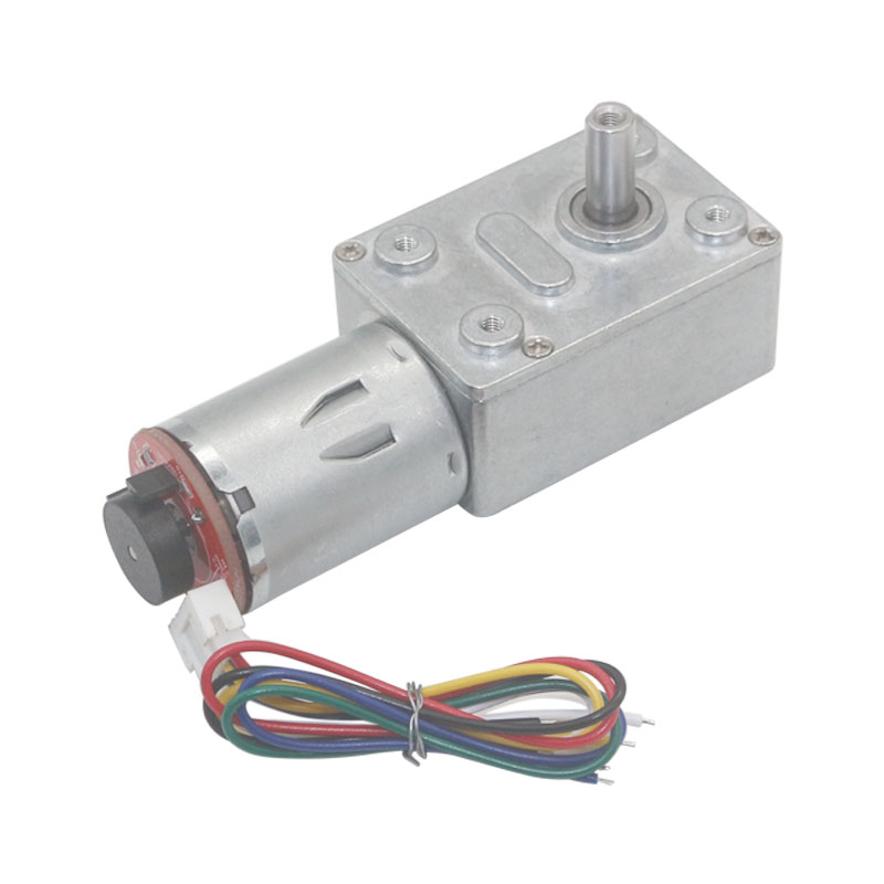 JGY370 Strong self-locking Turbine Worm <font><b>DC</b></font> <font><b>gear</b></font> <font><b>motor</b></font> with <font><b>encoder</b></font> low speed <font><b>high</b></font> <font><b>torque</b></font> <font><b>motor</b></font> 12V <font><b>24V</b></font> CW/CCW image