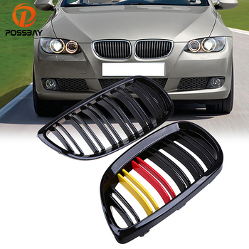 POSSBAY ABS Front Bumper Grille Car Styling Racing Grill For BMW 3-Series E90 Sedan M3 2007-2011 Car Accessories For Car Grills