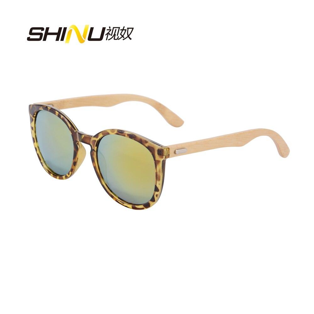 f64e7a9543 Retro Vintage Round Mirrored Glasses Women Men Sunglasses Ultralight Bamboo  Arms Sun Glasses UV400 Sport Driving