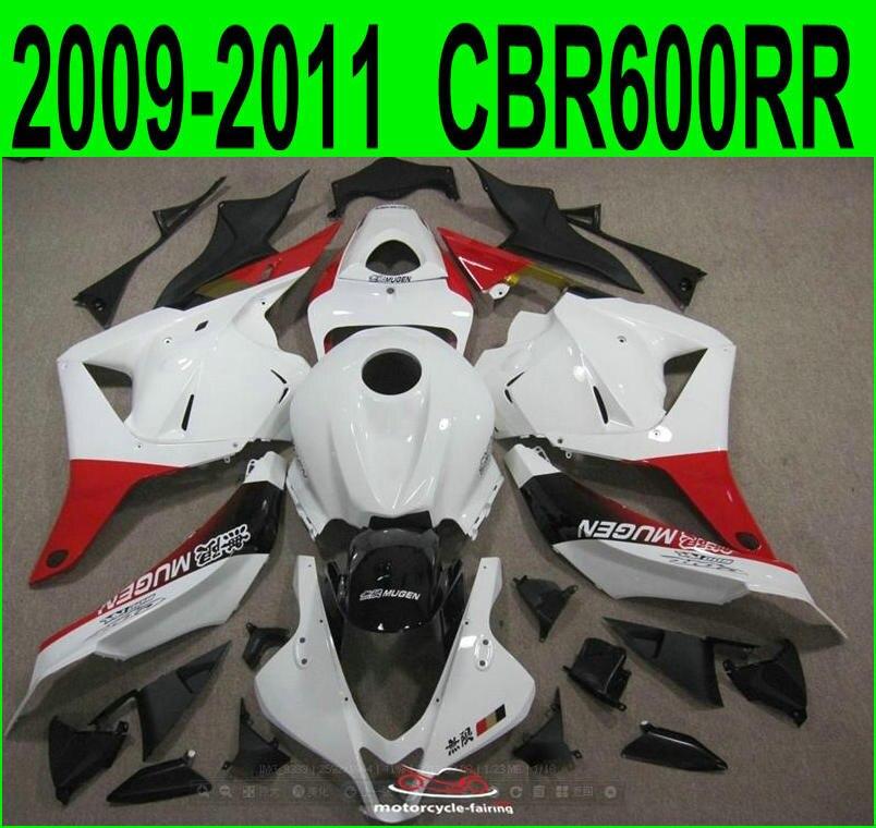 Hot sale fairings For Honda CBR 600RR 2009 2011 2012 ( White red ) cbr600 rr 09 10 11 Fairing kit SZ63