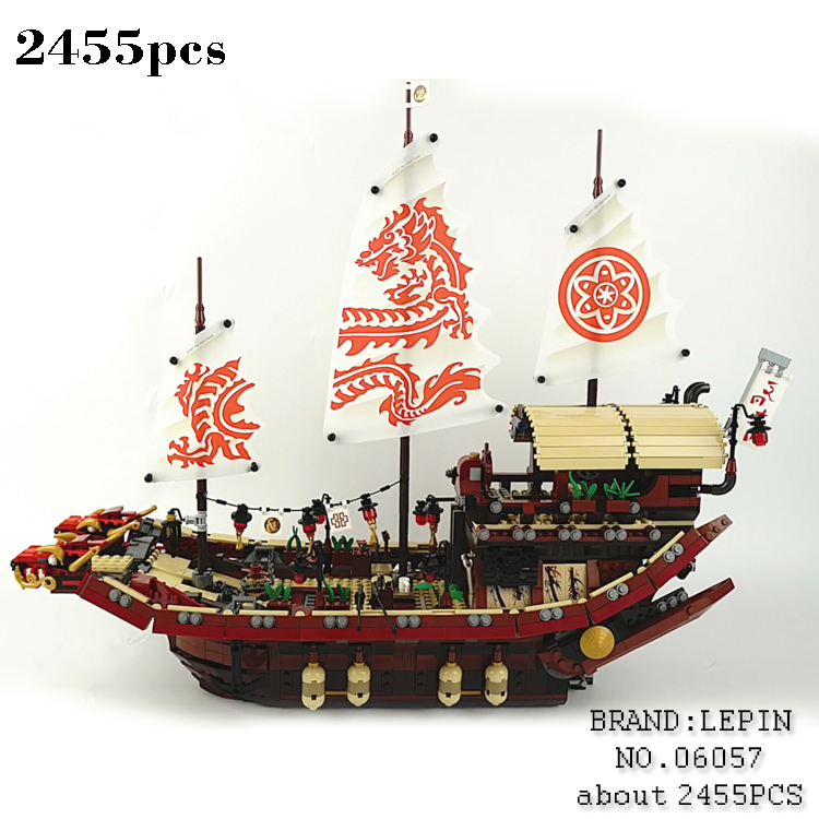 2017 New LEPIN Ninja Movie Destiny's Bounty Set Building Blocks Brick for children Toys Gift 70618 2455pcs lepin 06058 ninja serie die tempel der ultimative ultimative waffe modell bausteine set kompatibel 70617 spielzeug fur kinder