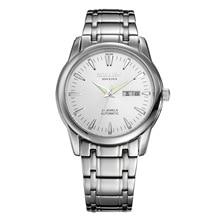 Genio SOLLEN 41 mmdiameter luminoso reloj de los hombres 100 m impermeable de acero de mesa masculino reloj de cuarzo genuino