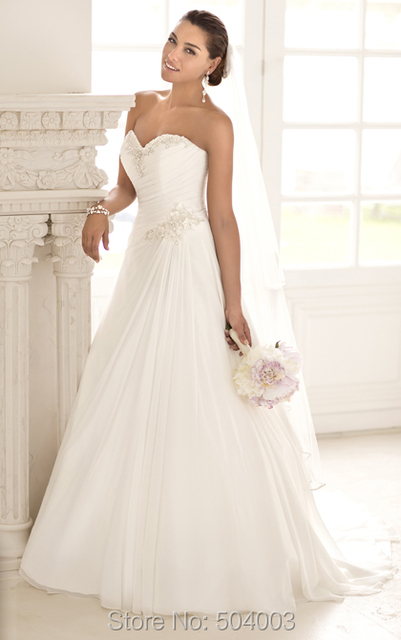 New Style Trend Lace Appliques A Line Bride Dress For Wedding