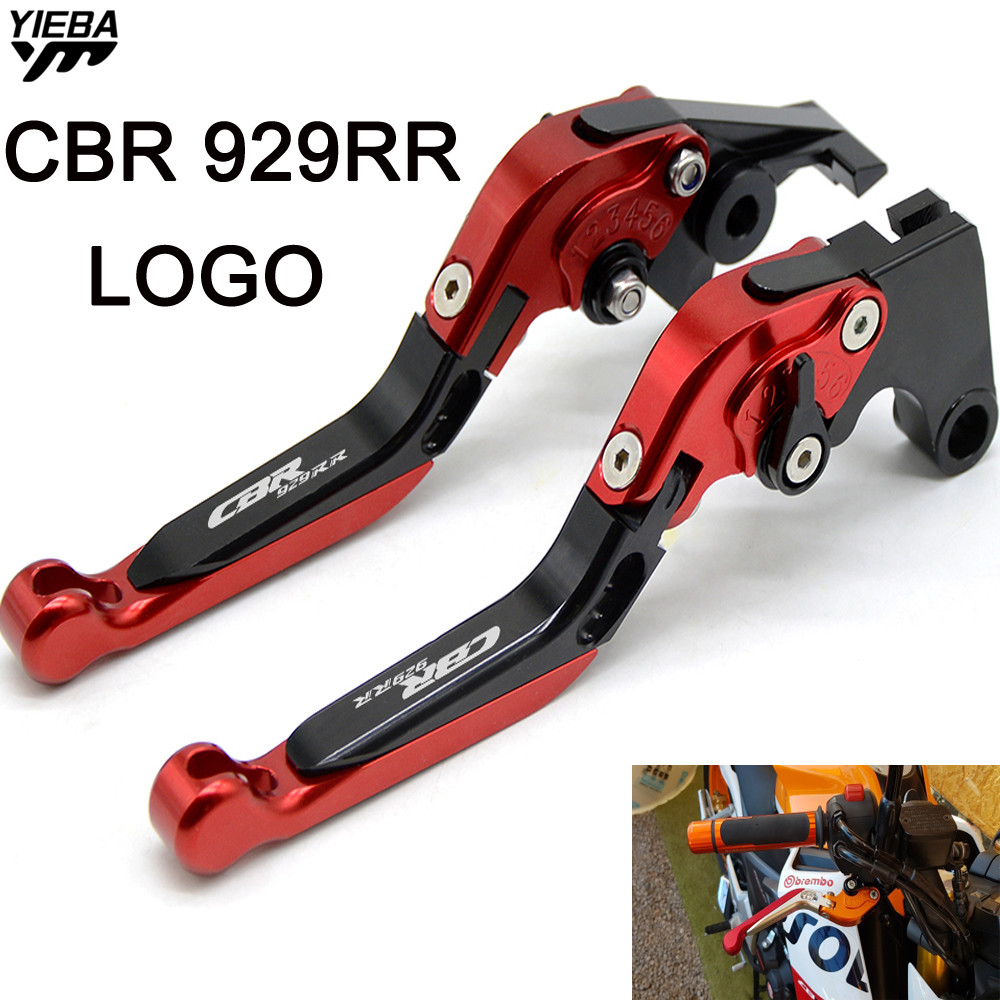 CBR929RR LOGO Brake Handle Motorcycle Adjustable Folding Brake Clutch Levers FOR HONDA CBR929RR CBR 929RR CBR 929 RR 2000 2001 curren mens watches top brand luxury relogio masculino big dial men quartz military wrist watch men clock men s watch 8176