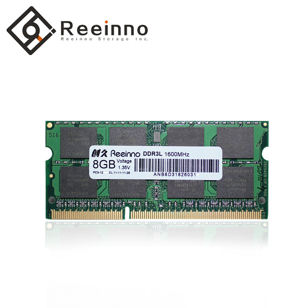 Reeinno ram ddr3 8GB 1600MHz 1.35V NON-ECC 12800MB/s 204pin Lifetime Warranty Single rams memory Laptop Factory direct supply