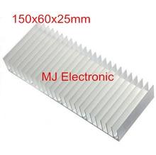 Alta calidad 150x60x25mm radiador De Aluminio del disipador de calor Extruido perfil disipador de calor para disipación de calor Electrónica