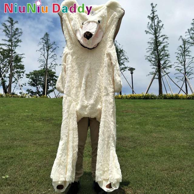 Niuniu Daddy 80cm ke 260cm Giant Teddy Bear Skin American Bear Plush - Mainan lembut - Foto 3