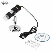 Sale 1Pc Digital 50-500X 2MP USB 3.0 8LED Microscope Endoscope Video Camera Magnifier Brand New