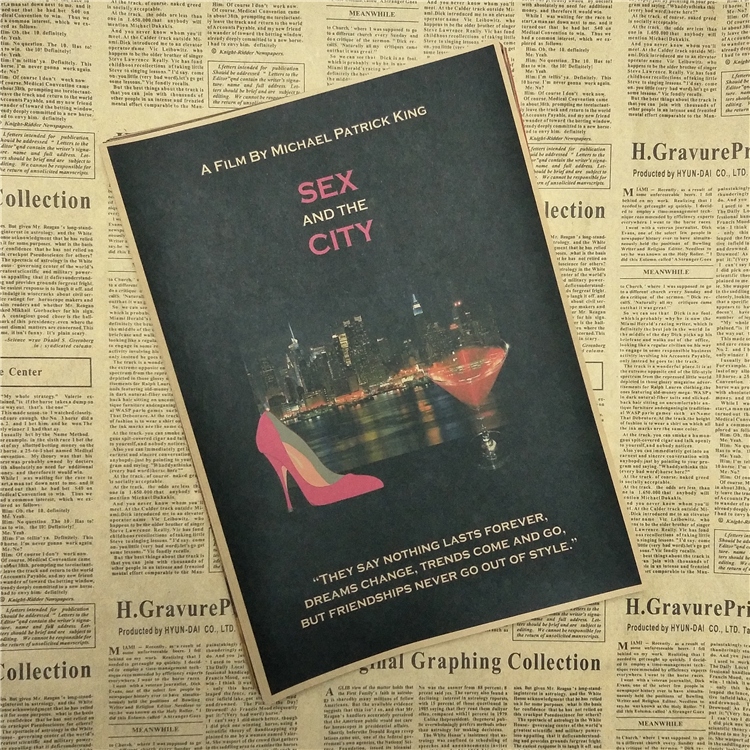 Sex and the City Classic Movie Kraft Paper Poster Bar Cafe Living Room Dining room Wall Decorative Paintings