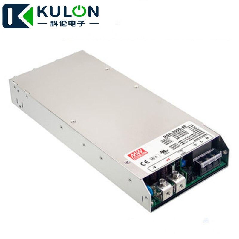 Original RSP-2000-48 2000 W 42A voltaje de 48 V trimmable meanwell fuente de alimentación 48 V con función PFC paralelo operación