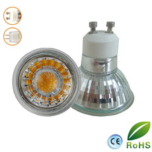 10pcs/lot  MR16 LED Spot light Glass body AC/DC12V 5w dimmable COB LED Spotlight bulb warm white cold white