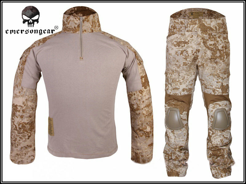 Emerson Tactical Gen2 Suit Shirt Combat Pants Elbow Knee Pads Waterproof Training Uniform Airsoft Durable Hunting Outdoor Gear? emersongear gen 2 bdu airsoft combat uniform training clothing tactical shirt pants with knee pads multicam tropic em6972