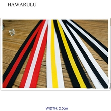 HAWARULU 2yard 2.5cm Handmade DIY High elastic strength decorative ribbon multicolor imitation nylon lace fabric