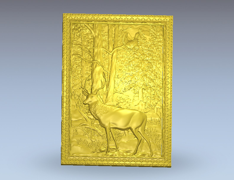 Deer 3D Model Relief STL Model For Cnc Router Carving Engraving Artcam Type3 Aspire M267