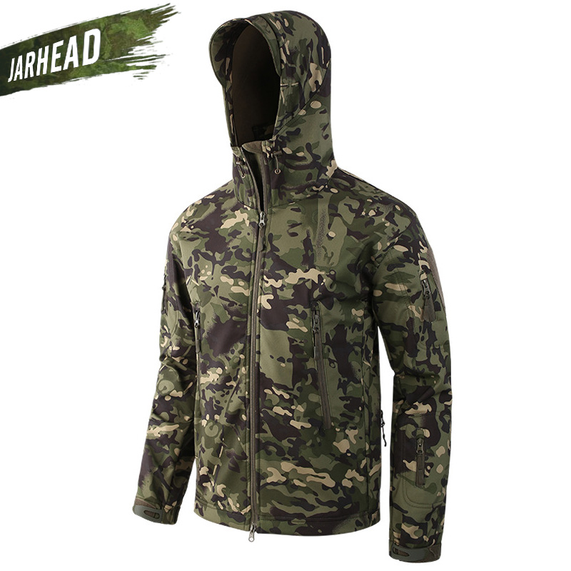 Upgrade Outdoor Camouflage Waterproof Shark Hiking Softshell Jacket Men s Sport Camping Hiking Cycling Tactical Jackets