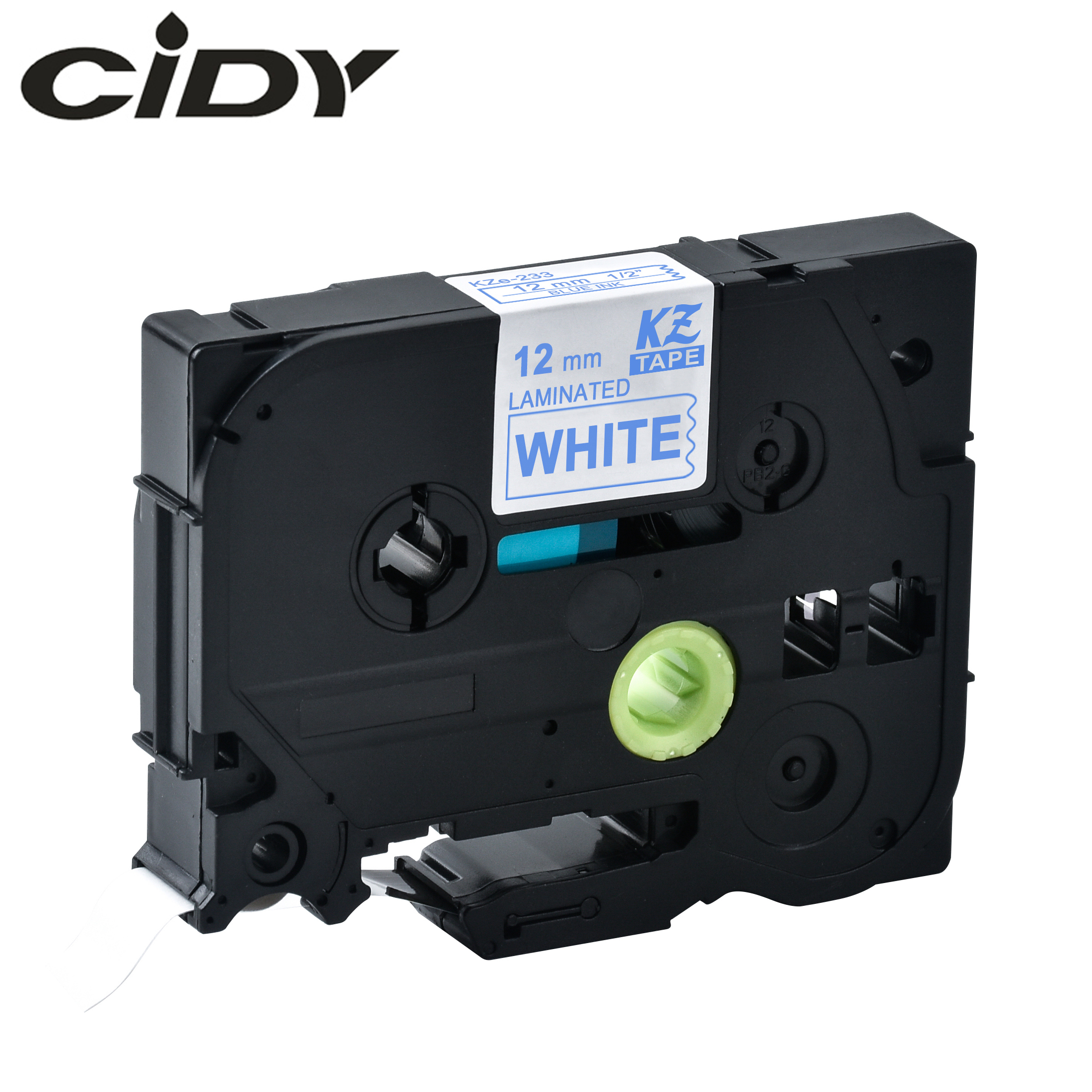 CIDY  Tze 233 Tz233 Blue On White Laminated Compatible P Touch 12mm Tze-233 Tz-233 Tze233 Label Tape Cassette Cartridge