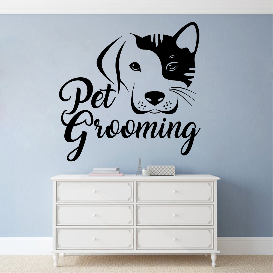 DOG GROOMER Vinyl Decal Sticker Grooming Puppy Breed Shears Car Window Wall Sign
