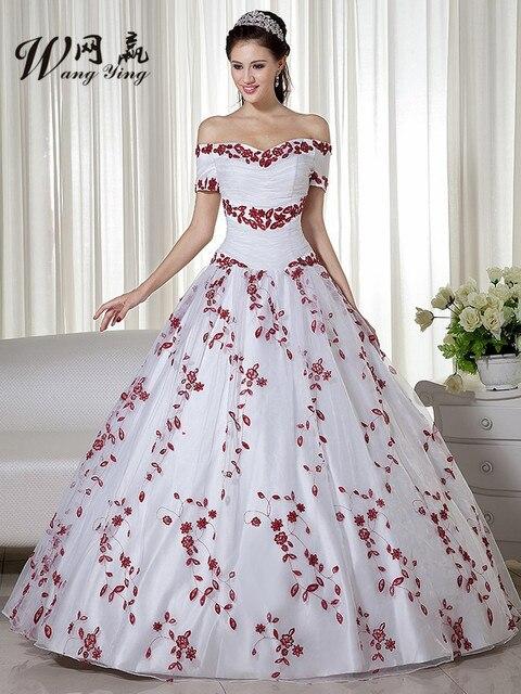 2017 nuevo invierno barato partido simple vestido de novia blanco
