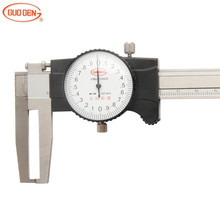 Wholesale prices GUOGEN Inside Groove Dial Caliper Single Claw Shockproof 150/200/300mm Inner Vernier Calipers Gauge Measuring Tools