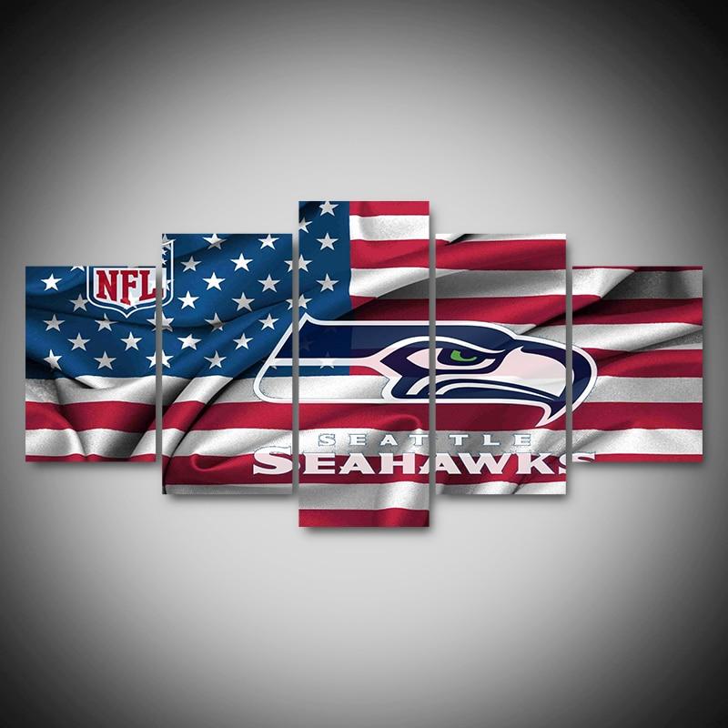 CHENFART 5 Unidades Seattle Seahawks Guante Deporte de la Lona de ...