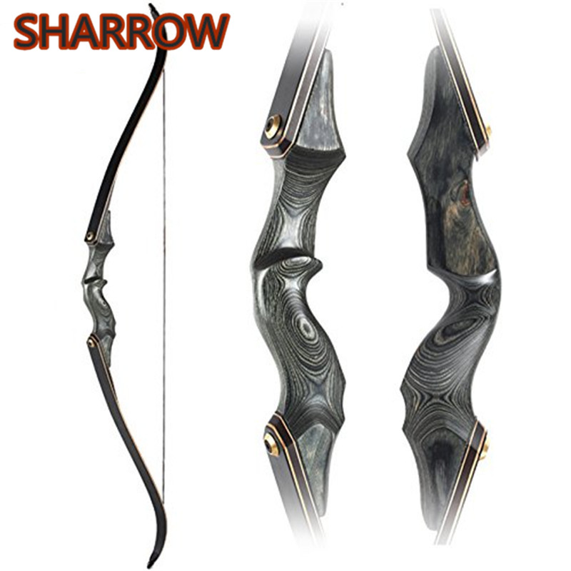 30 60bls 60 Inch Archery Takedown Recurve Bow Black Fiberglass Limbs Right Hand For Outdoor Hunting