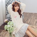 Fashion Women Bath Robe Ladies Nightdress Female Bathrobe Flannel Sleepwear Home Lounge Night Dress Thick Warm