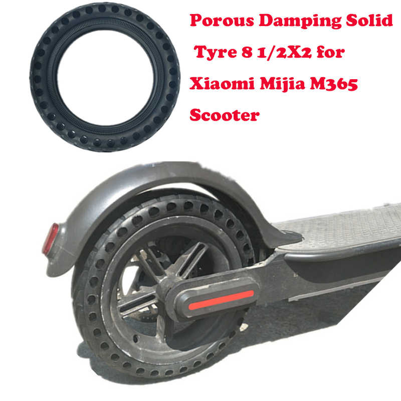 Upgraded Xiaomi Mijia M365 Solid Tire Hollow Non-Pneumatic Tyre Shock  Absorber Anti-slip Durable Rubber Tyre Wheels For Scooter