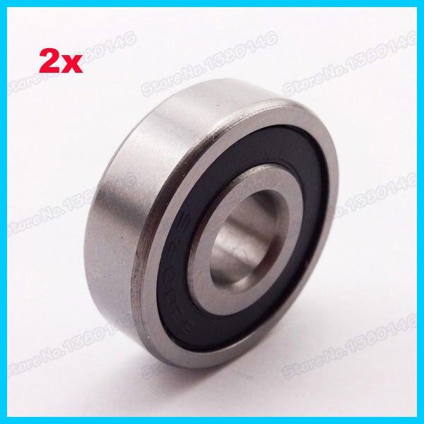 2 X Rodamiento De Bolas Sellado De Goma 6200 Rs Para Pit Dirt Bike Pocket Atv Quad Ciclomotor 10x30 X 9mm ConstruccióN Robusta