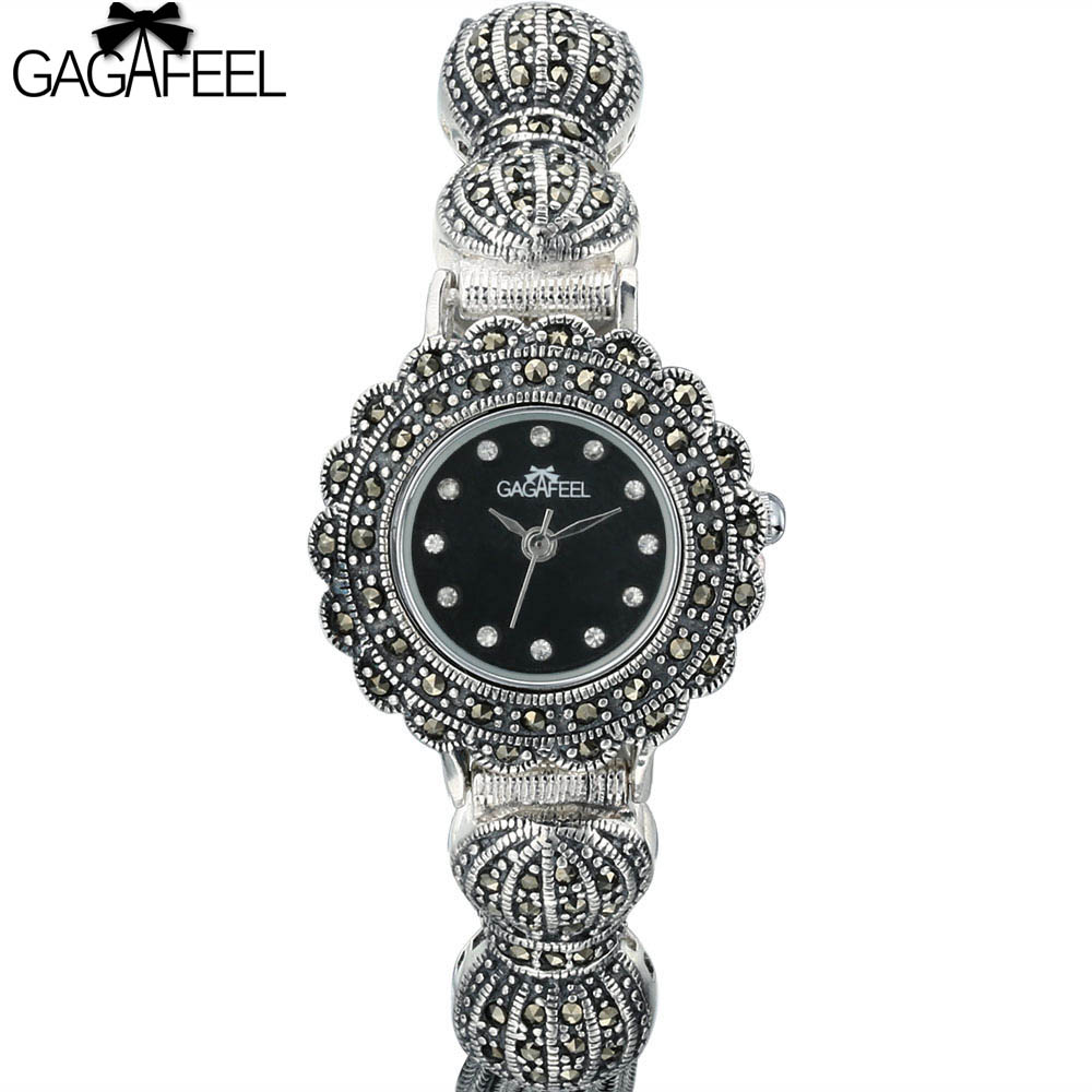 100% S925 Sterling Silver Watches Women Quartz Wristwatch Ladies Vintage Thail Silver Watch Woman Gifts стоимость