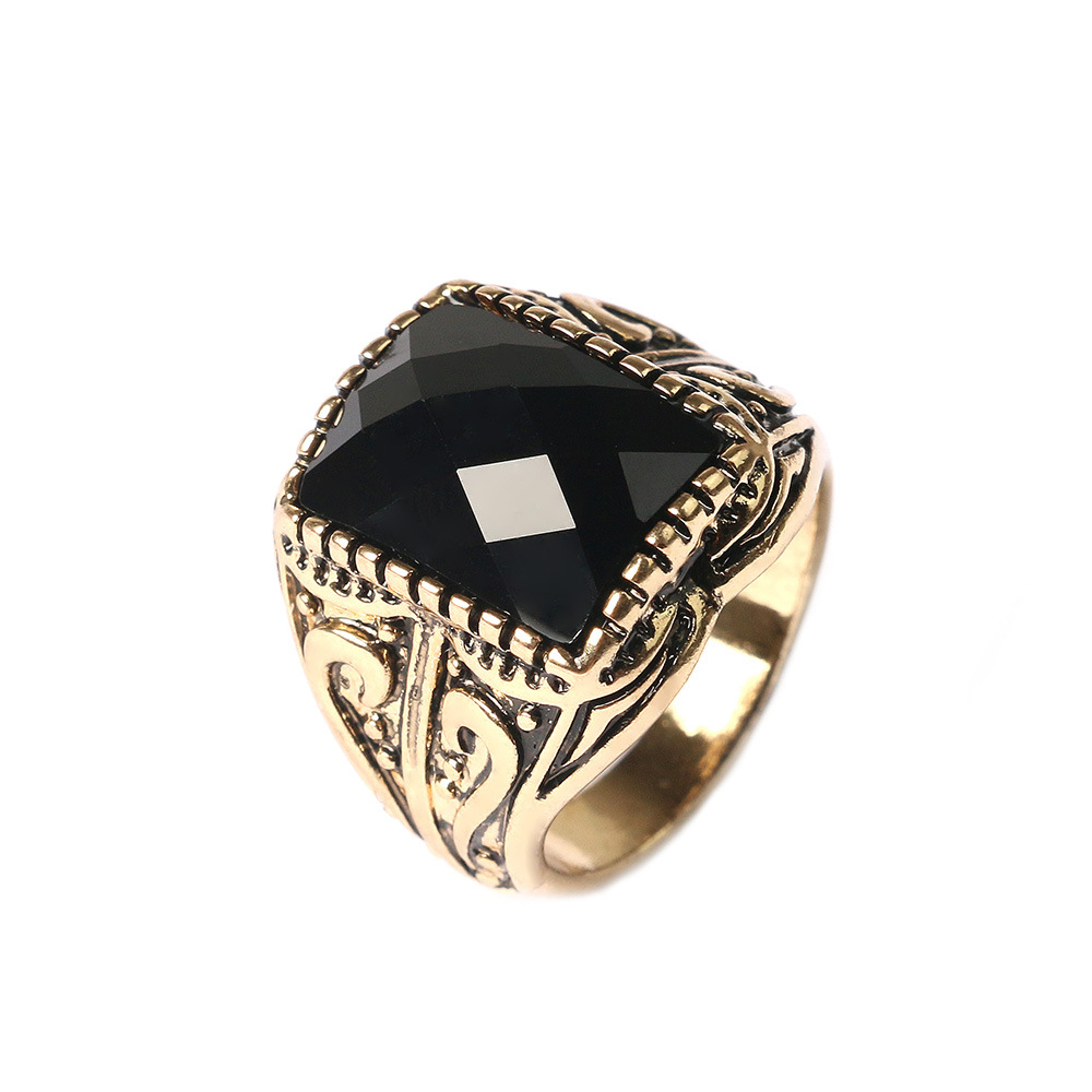 Antique Sliver Punk Black Ring Fine Jewelry Superhero Wedding Bands Tibet  Alloy Gold Rings For Men