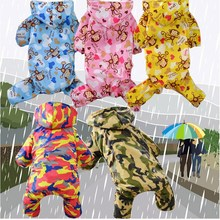 Hot Pet Dog Rain Coat Camouflage Printed Waterproof Clothes Hoodie Jacket Jumpsuit Raincoat For Small Dogs Raincoats