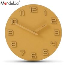 Mandelda Large Wall Clock Watch Digital Modern Design Reloj De Pared Decorativo Decorative